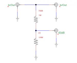 -50dB tap / attenuator